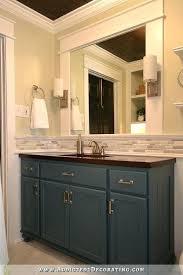 mirror tile backsplash diy hallway bathroom remodel before after addicted 2 furniture of america nj