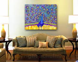 Peacock Colors Living Room Art Blog For Creative Living Fostering Peacock Decor