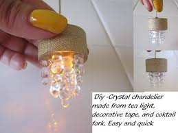 diy how to make a miniature led light pendant for dollhouse dollhouse chandelier