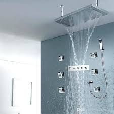 thermostatic shower system polished shower system set rainfall waterfall 2 traditional thermostatic shower system with grand thermostatic shower system