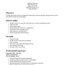 Driver Resume Format In Word Resume Template Easy Http Www