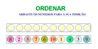 Resultado de imagem para ordenar números online jogo