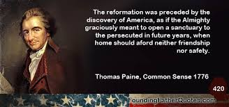 Common Sense Thomas Paine Quotes Cool Thomas Paine Quote The Reformation