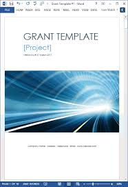 Proposal Cover Sheet Template Grant Proposal Template