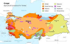turkey climate map. Perfect Map A Map Of The Agricultural Products Produced In Turkey Httpfanackcom On Climate Map O