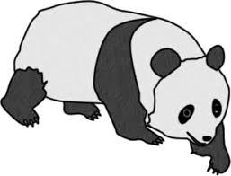 歩いているパンダのイラスト フリーイラスト素材 変な絵net