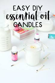 These easy diy essential oil candles are so easy to make! They are homemade  are with soy and scented with essential oils then poured into mason jars.