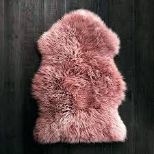 dusty rose area rug pink sheepskin rug in rose sheepskins rugs by type faux hot luxury