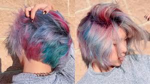 Sue S Hair Design Hairdresser Dyes My Hair Rainbow Galaxy Insane Hair Transformation