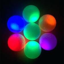 glowing ball night light night light glowing fluorescence training golf light up luminous night light