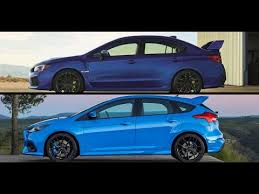2018 ford focus rs. wonderful 2018 2018 subaru sti vs ford focus rs throughout ford focus rs