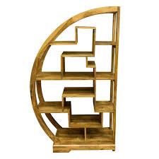 Ambala Cube Light Mango Wood Curved Display Unit Arched Display