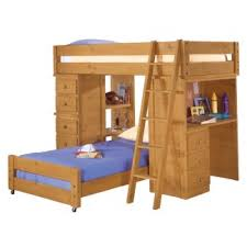 wood bunk bed with desk. Plain With Twin Loft Bed Wood American Woodcrafters Crossroads Student 17 To Bunk With Desk