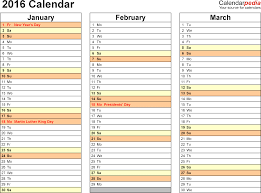 Free Printable Bill Organizer Template And 2016 Calendar 16 Free