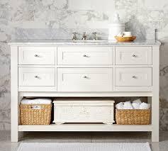 Single bathroom vanities ideas Inch Classic Single Wide Sink Console White Pottery Barn For Bathroom Vanities Idea Ungroundedinfo Pottery Barn Vanity Bathroom Astonishing Terrific Inside Vanities