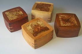 small wood boxes the split top