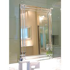 Art Deco Style Mirror - Modesty Art Deco Mirror (800 x 1000mm) ...
