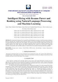 resume parsing algorithm cv parsing algorithm