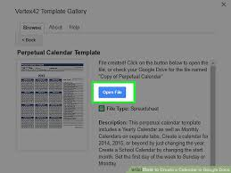 google docs calendar template the 2 best ways to create a calendar in google docs wikihow