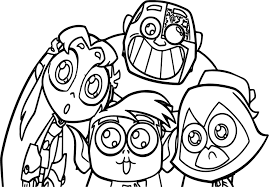 Small Picture Teen Titans Go Robin Team Coloring Pages Wecoloringpage