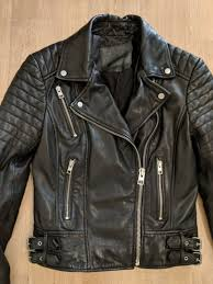 all saints papin leather biker jacket black allsaints size uk 8 eu 36 us 4 6 6 of 12 see more