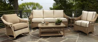 outdoor upholstered furniture. Outdoor Patio Wicker Chairs Seat Using Light Brown Thick Upholstered Backrest And Saddle, Charming Comfortable Furniture L
