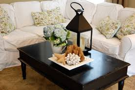 Creative Idea:Cool And Creative Coffee Table Centerpiece Decoration Ideas  Living Room Ideas With White