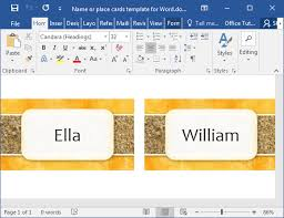 Template To Make A Card How To Make Printable Place Cards In Word