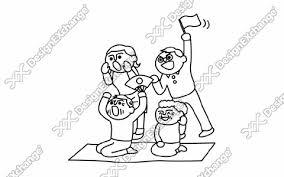 応援する家族 クリップアート年賀状戌年の年賀状イラストデザイン