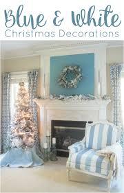 blue and white furniture. Blue \u0026 White Christmas Mantel Ideas And Furniture