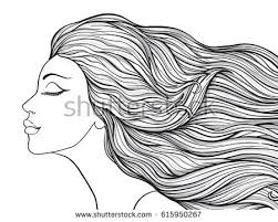 Coloring Pages Of Girls With Long Hair