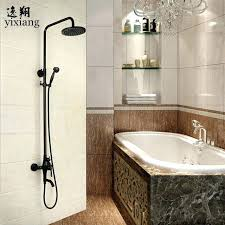 whole luxury hot and cold in bathroom faucet matte black shower head ceiling arm canada