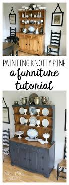 Painted Knotty Pine Painting Knotty Pine Tutorial How My Hutch Got A Makeover