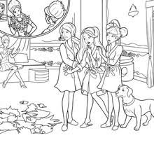 Barbie The Princess Charm School Coloring Pages Online Printables