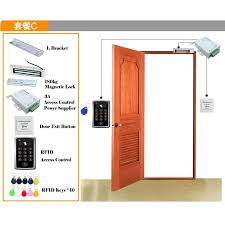 rfid access control system diy kit glass door gate opener set electronic magnetic lock id card