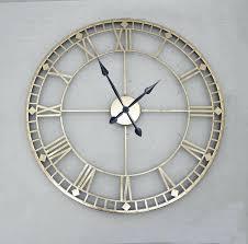 skeleton wall clock large chrome clocks uk extra
