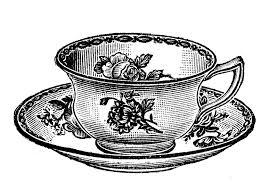 vintage tea cups drawing. Plain Cups Free Vintage Clip Art Images Vintage Tea Party Crockery More Cups   With Tea Drawing C