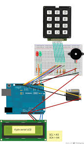 arduino door lock diagram