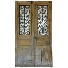 antique french doors with iron and glass panels for craigslist id f