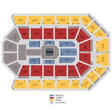 Rabobank Arena Seating Chart With Seat Numbers Wwe World Wrestling Entertainment 2019 10 7 In 1001