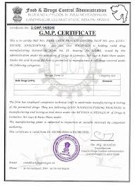 welcome to pure chem certifications cgmp certificate manufacturing drug license