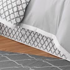 jill rosenwald by westpoint home quatrefoil white grey queen 15 in bed skirt