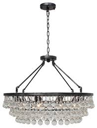 celeste glass drop crystal chandelier antique silver 32