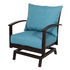 allen roth atworth set of 2 aluminum conversation chairs with peacockblue cushions