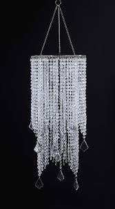 flavorthings clear beaded hanging chandelier light 3