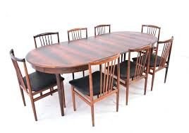 danish round dining table extends to 1 2 inch long modern period danish design dining table danish round dining table