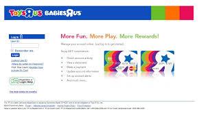 steps to login toys r us credit card