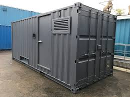 Shipping Container A 20ft New Container Converted To Be Fitted With A Generator