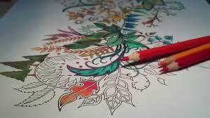 asmr coloring secret garden bring out your red 1 blended pencil prismacolor premier
