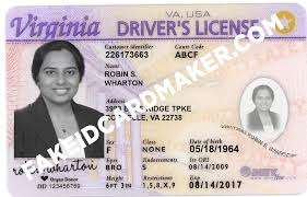 Virtual - Id License Card Driver's Virginia Maker Fake